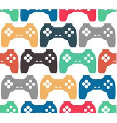 Joystick seamless pattern retro gamepad texture vector