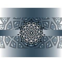 mandala border vector image