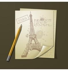 Multiple sheets of white paper vector image