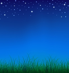 Nature night vector image