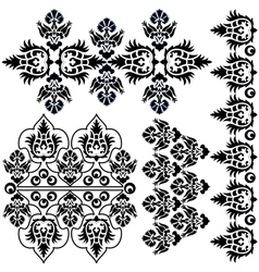 Ottoman serial patterns eight vector