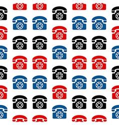 Retro phone symbol seamless pattern vector