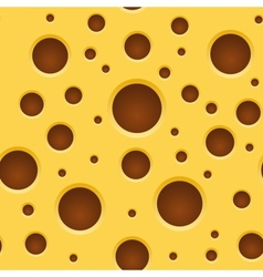 Seamless Cheese Pattern Texture vector image