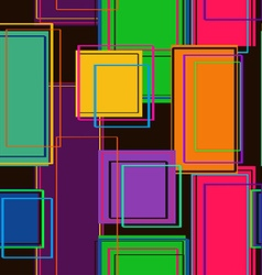Seamless pattern of rectangles vector