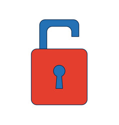 Security protection padlock keyhole open symbol vector