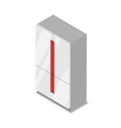 server rack isometric 3d icon vector image vector image