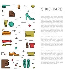Shoe care elements vector