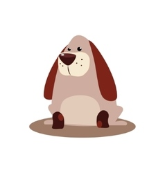Sitting brown dog vector