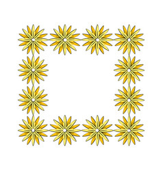 Square border flowers decoration vector