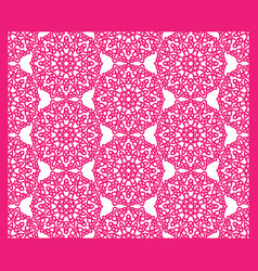 square pattern panel for laser cutting with vector image vector image