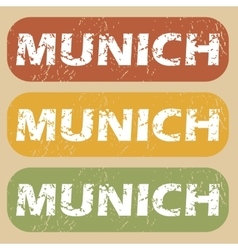 Vintage munich stamp set vector
