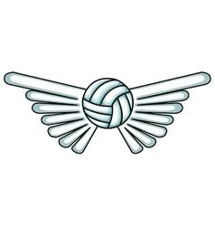 Volleyball balloon sport icon vector