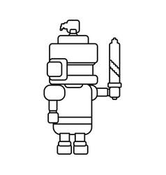 warrior pixelated videogame vector image