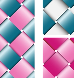 Wicker texture made with colorful ribbons vector