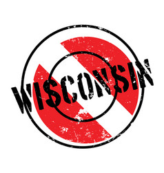 Wisconsin rubber stamp vector