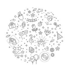 Party concept line design vector