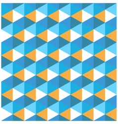 Hexagon blue with orange geometrical pattern vector image