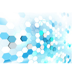 abstract geometric shape technology digital hi vector image