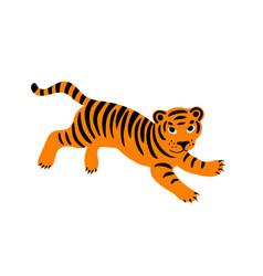 Jumping tiger vector