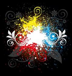 splatter background vector image