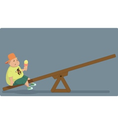 Childhood obesity vector