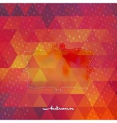 Autumn frame on hipster background EPS 10 vector image