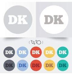 Denmark language sign icon dk translation vector