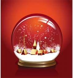 ball snow red vector image