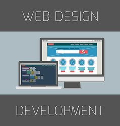 Set of flat design concepts concept for web design vector