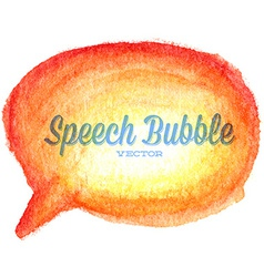 Watercolor drawn orange speech bubble vector