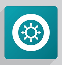 Flat ship wheel icon vector