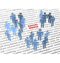 social media words people network page text vector image