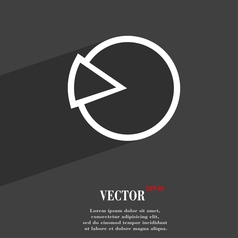 Pie chart graph icon symbol flat modern web design vector