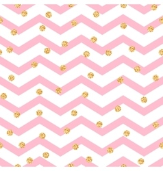 Chevron zigzag pink and white seamless pattern vector