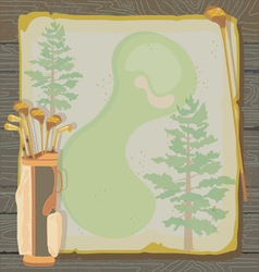 Rustic vintage golf party vector