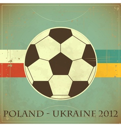 euro 2012 retro vector image