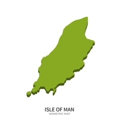 Isometric map of isle of man detailed vector