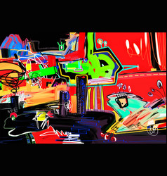 abstract digital painting perfect to interior vector image vector image