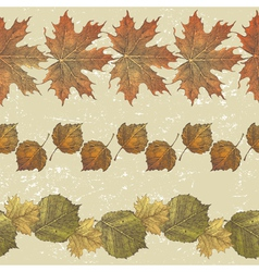 autumn leaves borders vector image vector image