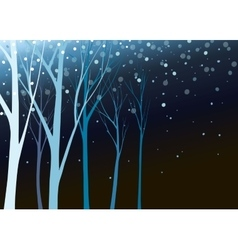 Beautiful nature in night vector