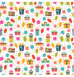 birthday background seamless pattern with vector image