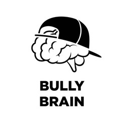 Bully brain in cap creative icon smart vector