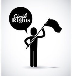 Civil rights design vector