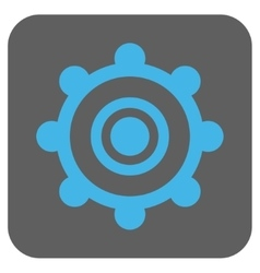 Cog wheel rounded square icon vector
