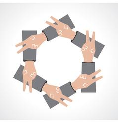 creative victory hand icon vector image