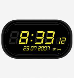 digital clock radio vector image