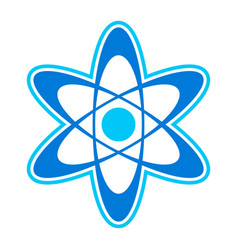 Dynamic atom molecule science symbol icon vector