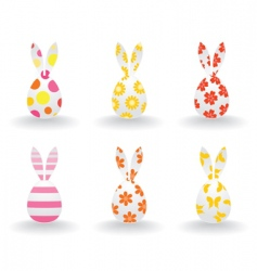 Easter hares vector image vector image