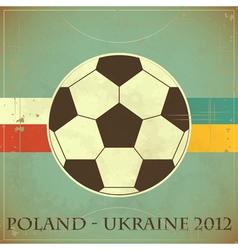 Euro 2012 retro vector