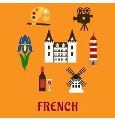 France cultural and historical symbols vector